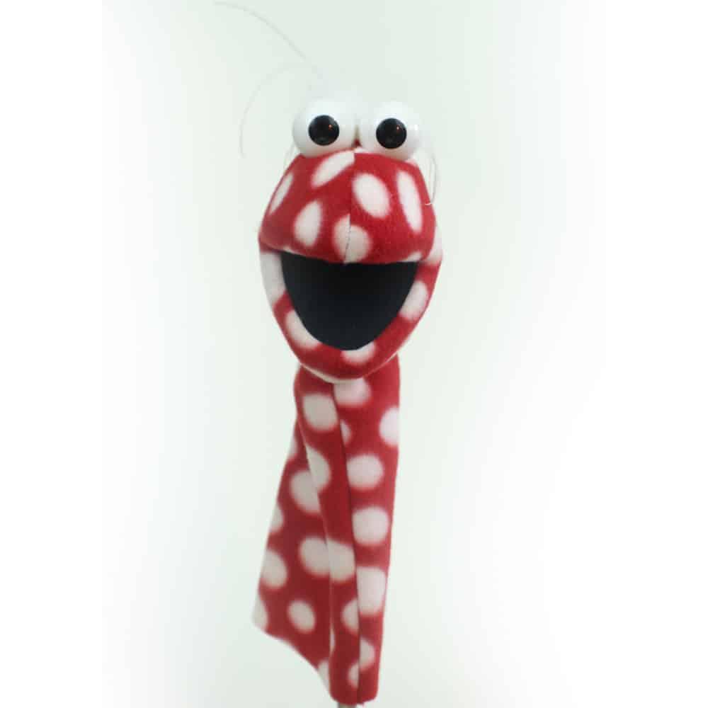 Playful Puppet Pal™ – RED Polka Dot